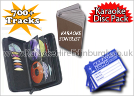 Karaoke Hire Edinburgh Discs Pack