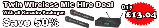 Karaoke hire edinburgh Wireless Microphone deal